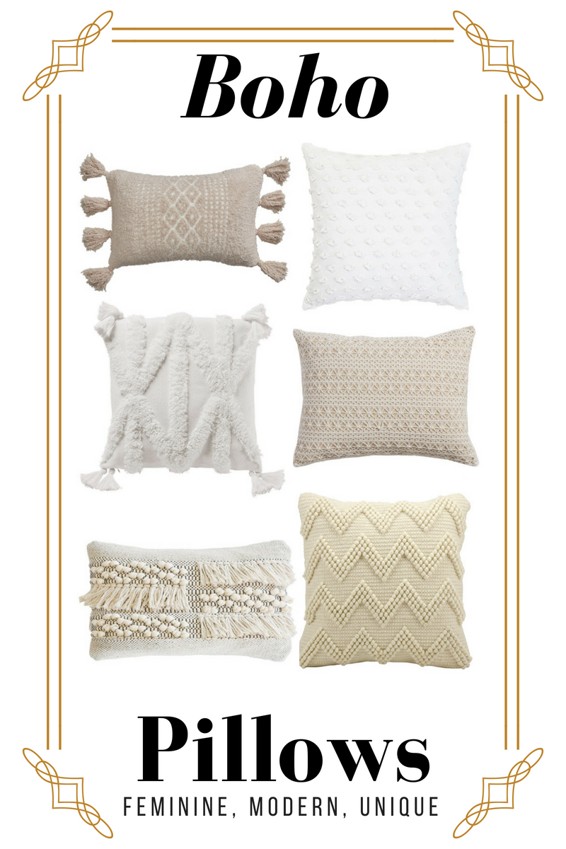How To Decorate Like Anthropologie On A Budget 6 Cream Boho Throw Pillowshoney Betts