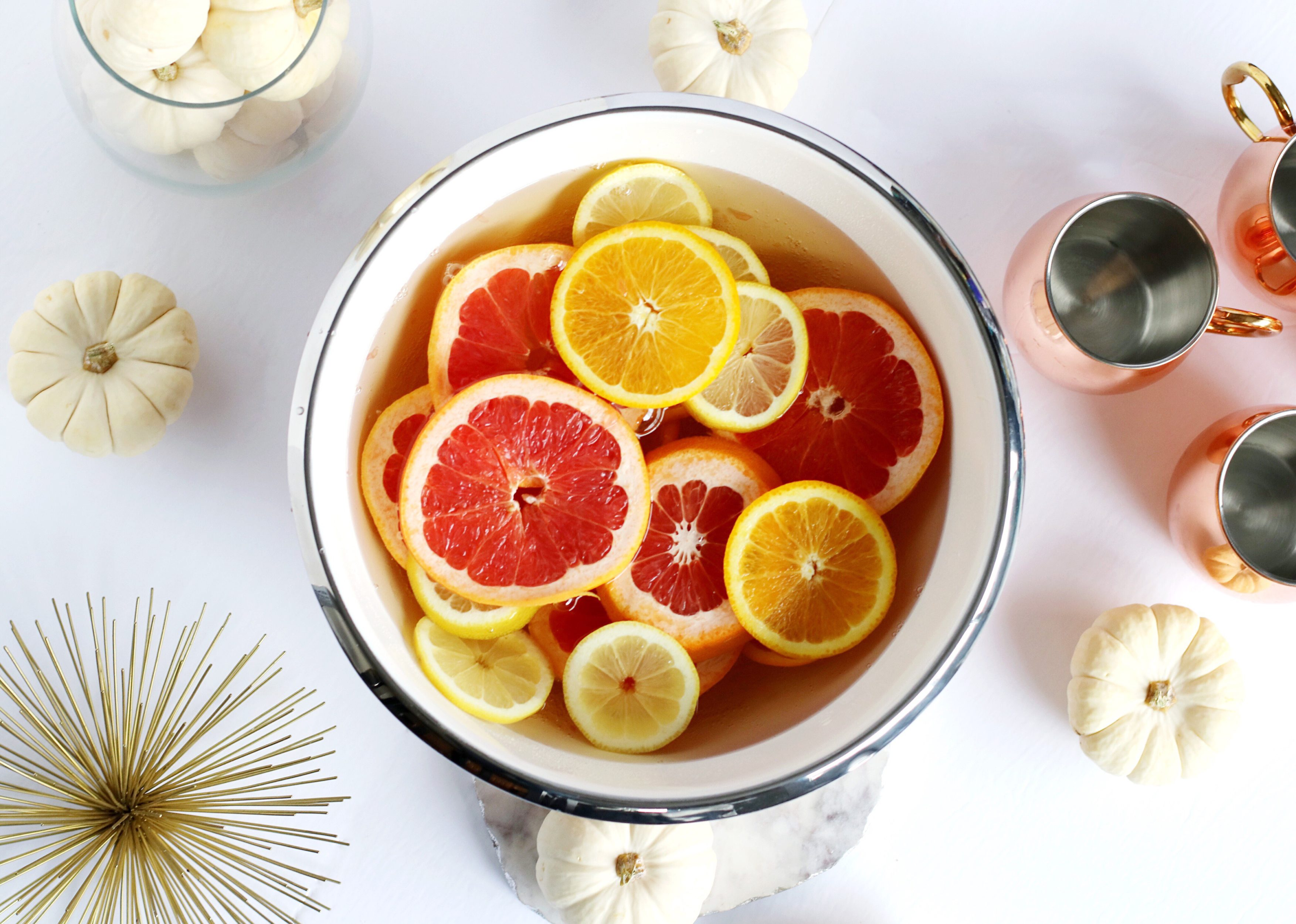 citrus holiday punch for thanksgiving  white wine citrus