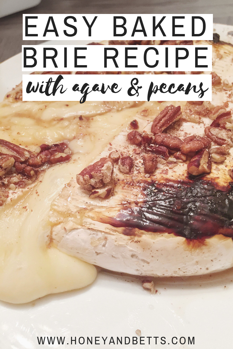 easy baked brie recipe with honey and pecans  easy